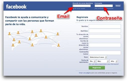facebook iniciar sesion
