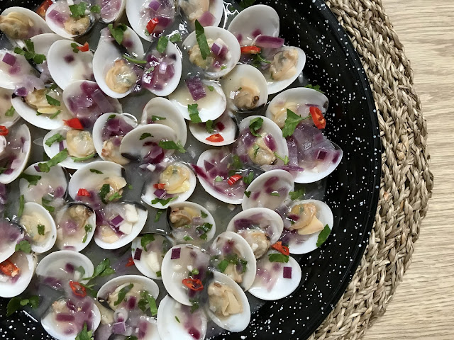 receta de almejas en salsa de sidra