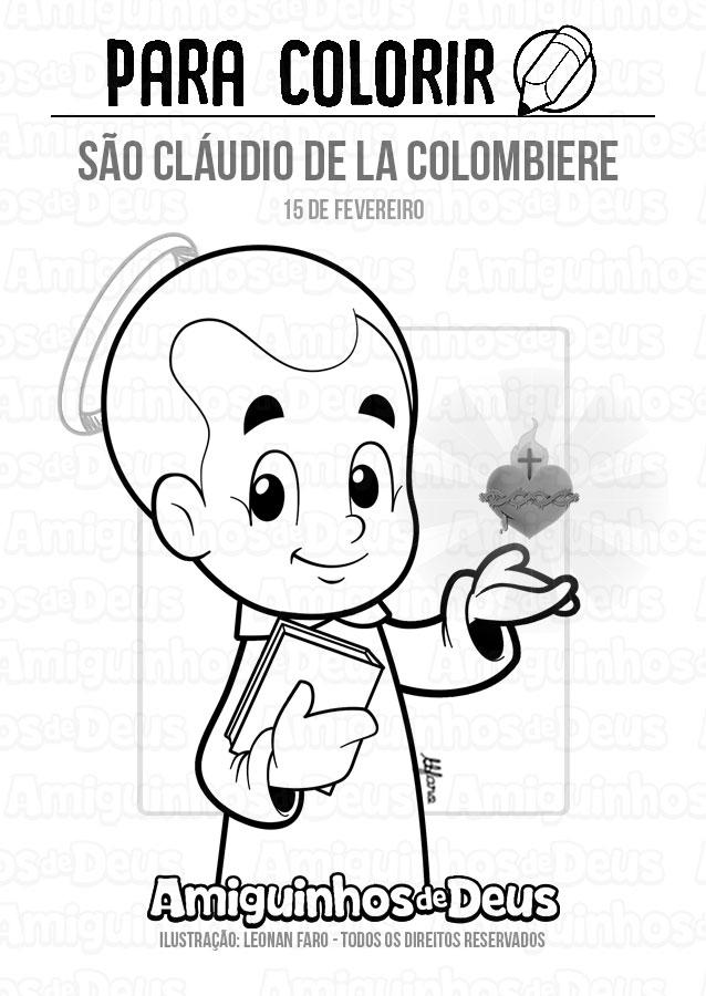São Cláudio de La Colombiere desenho para colorir