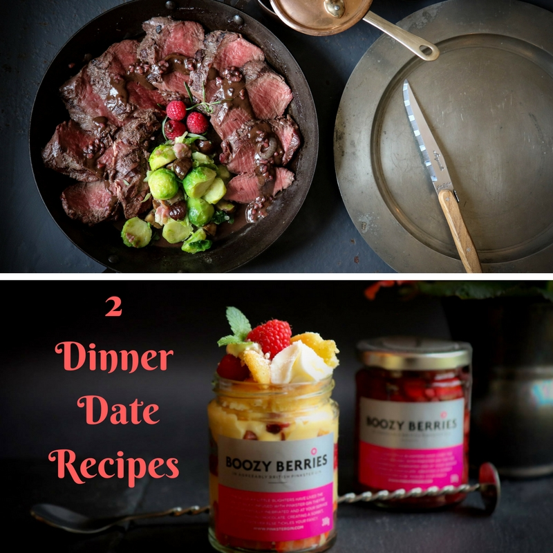 2 Dinner Date Recipes: Venison with Raspberry And Bitter  Chocolate Sauce And A Boozy Berries Trifle..