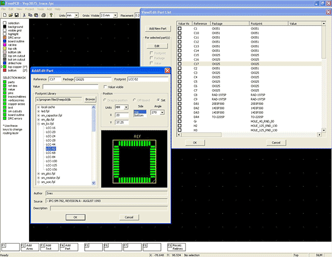 AmplifierCircuits com: FreePCB Software