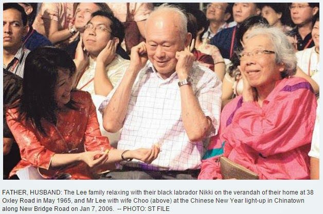 A devoted husband in a long, happy marriage. His wife, Madam Kwa Geok Choo, who died in 2010 at 89, was the bedrock of his life.