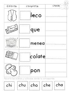 Mi cuadernillo de sílabas para imprimir