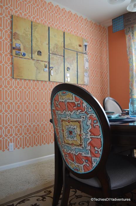 Orange and Aqua Decor, Orange and teal decor