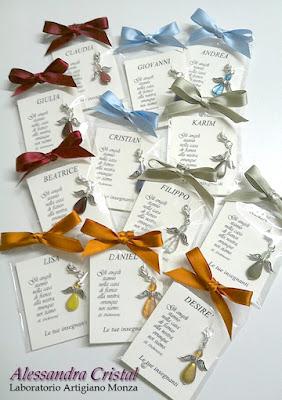 regalo agli alunni comunione ciondolo angelo colorato