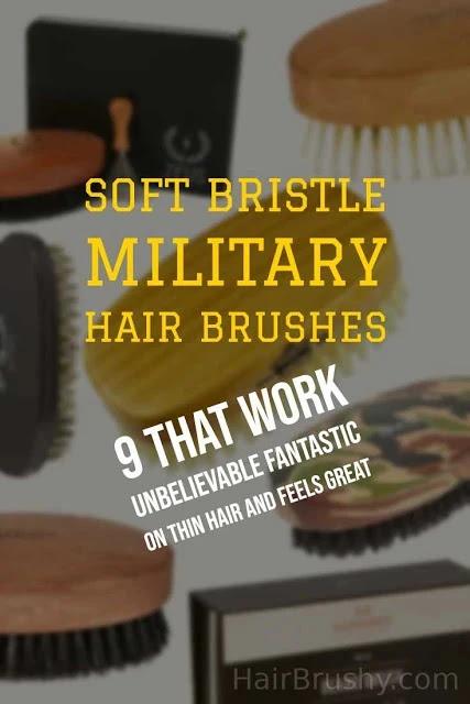 Soft Bristle Military Hair Brush