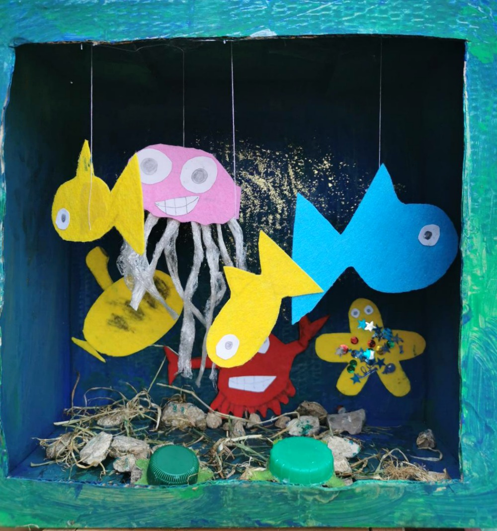 Under The Sea Themed Crafts For Kids - Box Aquarium