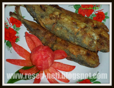 Fried Sardines spices recipe at kusNeti kitchen @2015