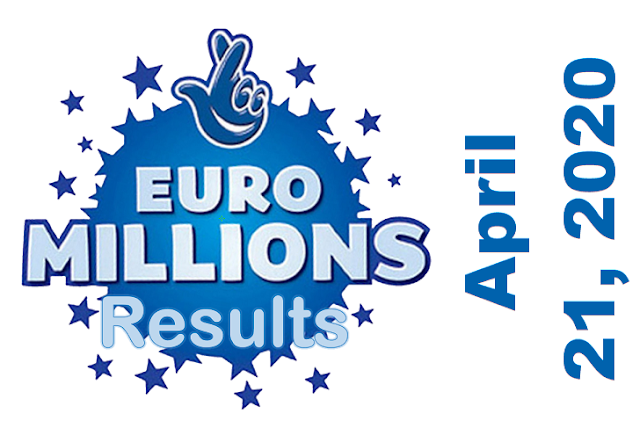 EuroMillions Results for Tuesday, April 21, 2020