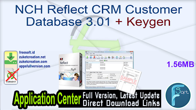NCH Reflect CRM Customer Database 3.01 + Keygen