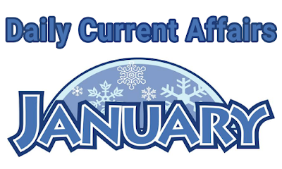 Daily Current Affairs in Hindi - 01 January 2019 By #StudyCircle247