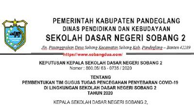 Contoh SK Covid 19 Pada Satuan Pendidikan
