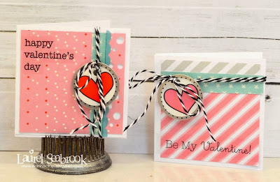 SRM Stickers Blog - Valentine Mini Cards by Laurel - #cards #mini #valentines #stickers #twine #borders