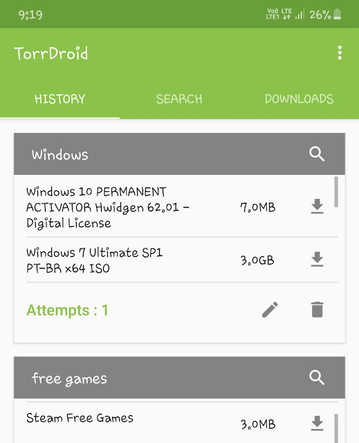 Download torrent on Android