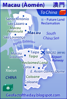 Map of Macau, a special administrative region of China