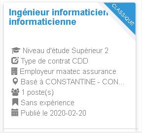 Employeur : maatec assurance Ingénieur informaticien informaticienne