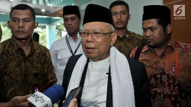 Maruf Amin: Rekonsiliasi dengan Prabowo Belum Ada Waktu Yang Tepat