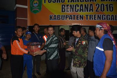 Pemkab. Trenggalek Terima Bantuan Bencana dari Pemkot. Surabaya