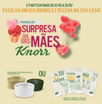 Cadastrar Knorr Surpresa Dia das Mães 2021
