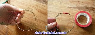 Tutorial para fazer pulseira com arame e tecido