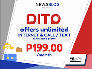 DITO Welcome Promo, Unlimited Internet, Calls and Text for 1 Month - SUBSCRIBE NOW