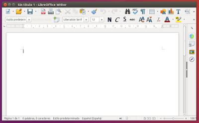 LibreOffice Writer abierto