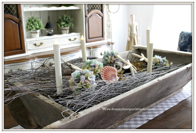 French Farmhouse-Suburban Farmhouse-French Country Farmhouse Dining Room- From My Front Porch To Yours