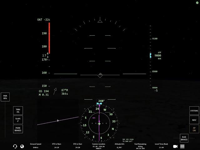 Infinite-Flight, tour du monde, vol de nuit