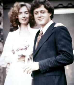 Foto de Bill Clinton en su matrimonio