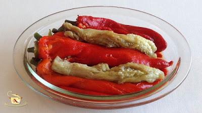 Salata de ardei copti cu vinete - etapa 4