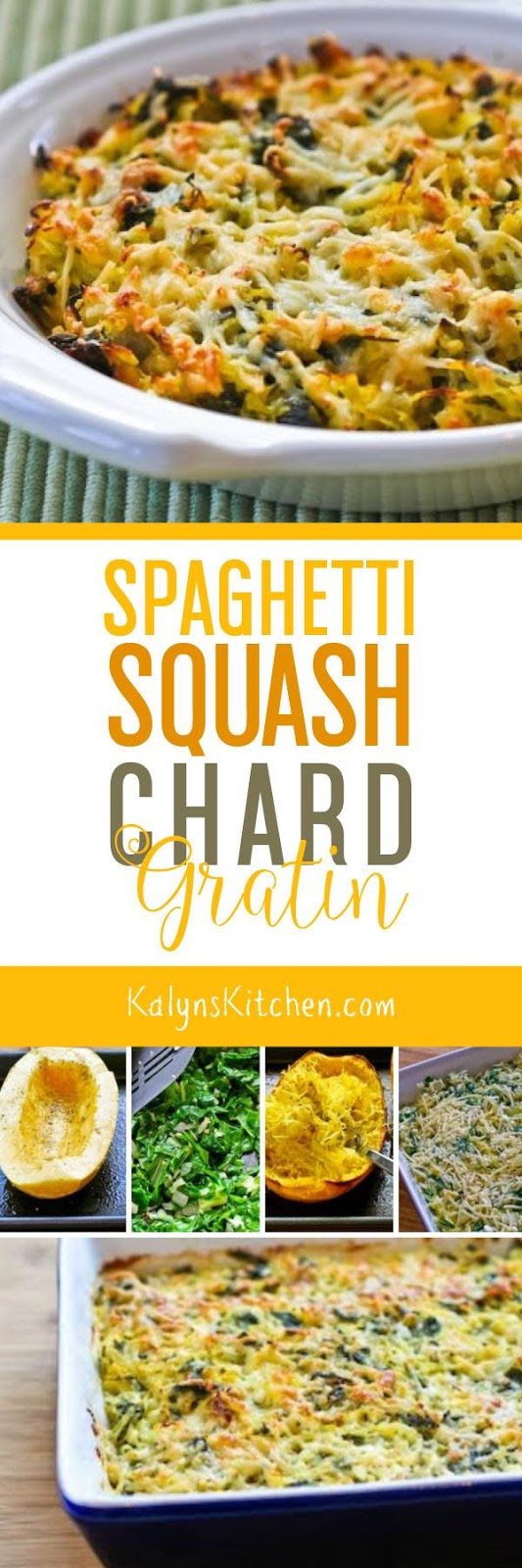 Spaghetti Squash and Chard Gratin is my entry for Weekend Herb ...