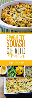 Spaghetti Squash and Chard Gratin found on KalynsKitchen.com