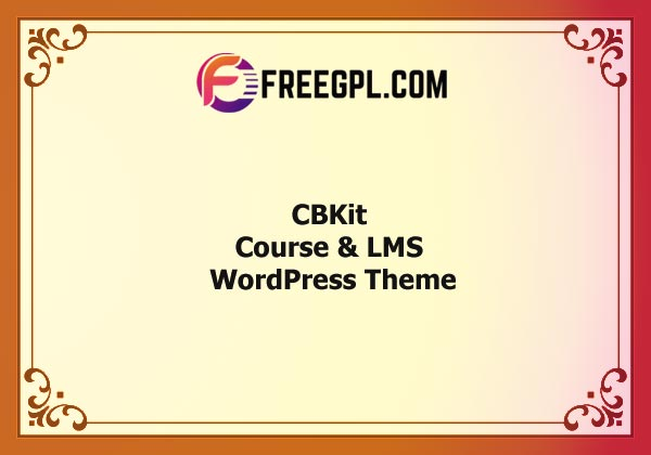 CBKit – Course & LMS WordPress Theme Nulled Download Free