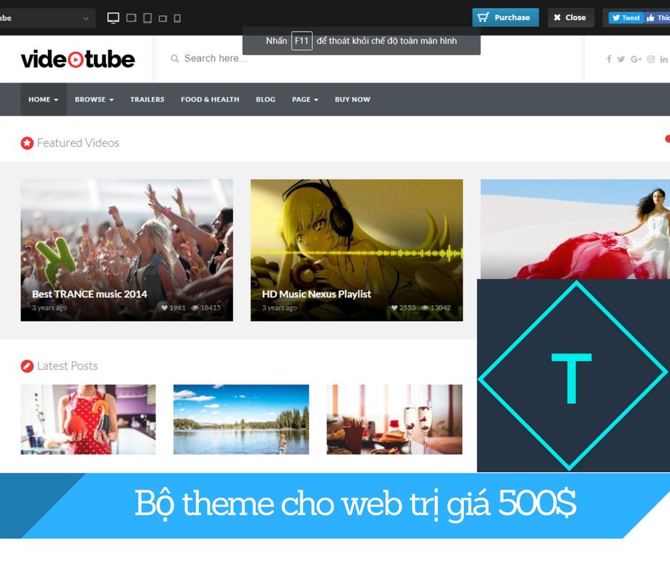 Boembox Viral News Weblog Home: Chia Sẻ Bộ Theme Cho Website Trị Giá 500$