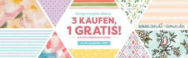 Stampin Up Designerpapier Aktion 1 Packung GRATIS