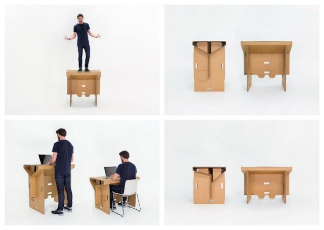 Solusi Baru, Meja Terbuat Dari Bahan Ramah Lingkungan ini Bisa Kamu Contek di Rumah