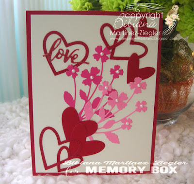 front card  bouquet of flowers and hearts for Valentines day