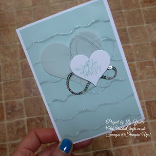 Lovely Friends Card with Ruffled Background