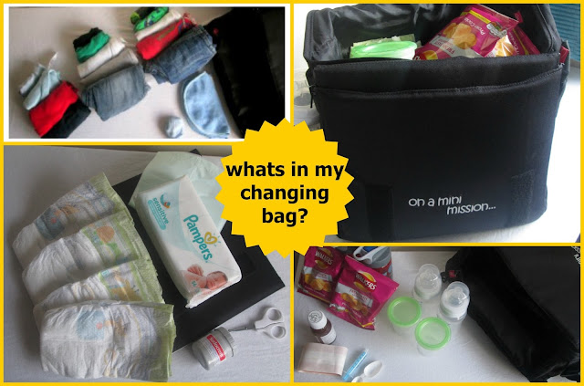 packing a changing bag for three young children