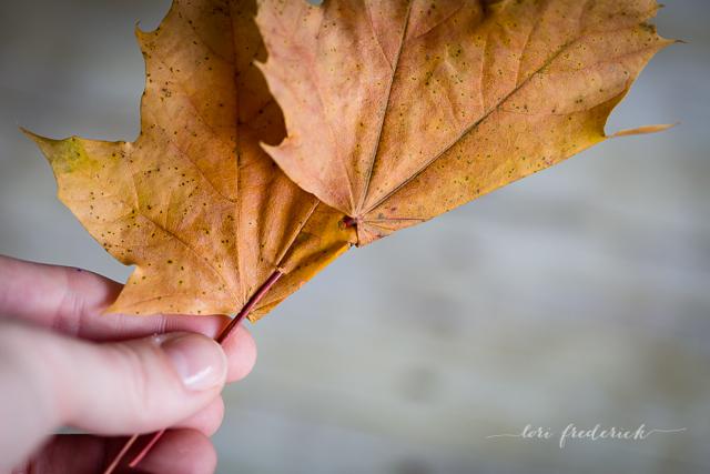 Как сделать корону из осенних листьев