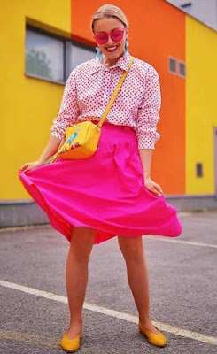 Pink skirt and Top Combination