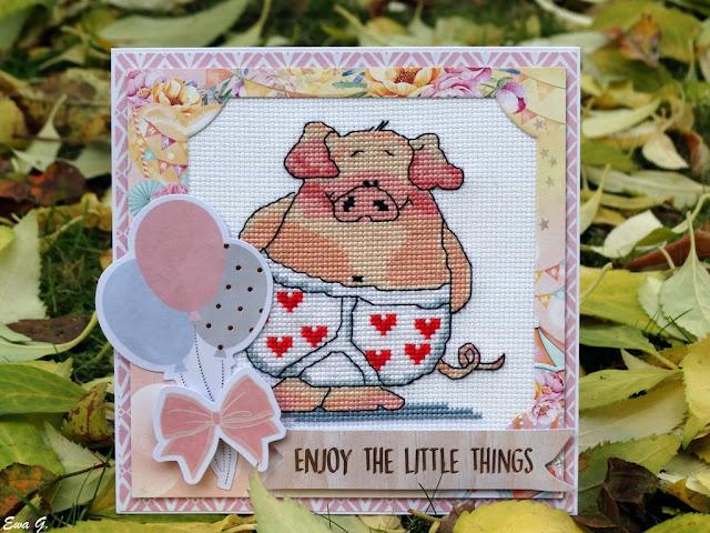Zwierzęca wymianka kartkowa - świnie