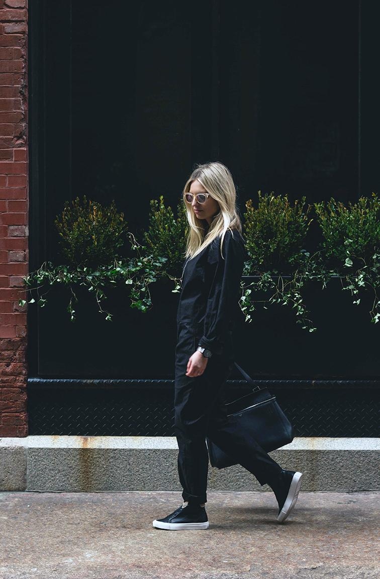 Heleneisfor #MBMuse - Matt Bernson  phantom sneaker, Isabel Marant jumpsuit, Warby Parker Dorothy sunglasses