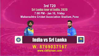 SL vs IND T20 3rd match today prediction,