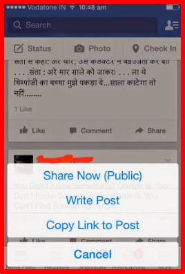 how do you copy and paste on facebook wall