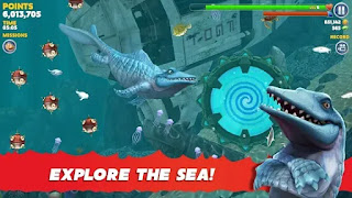 تحميل لعبة Hungry Shark Evolution مهكرة