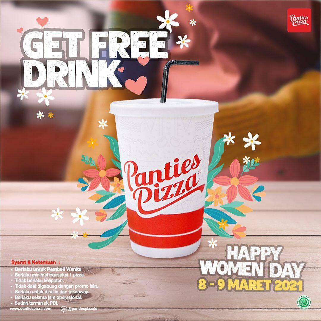 PANTIES PIZZA Promo Woman Day! Gratis Semua Minuman Untuk Pembeli Wanita