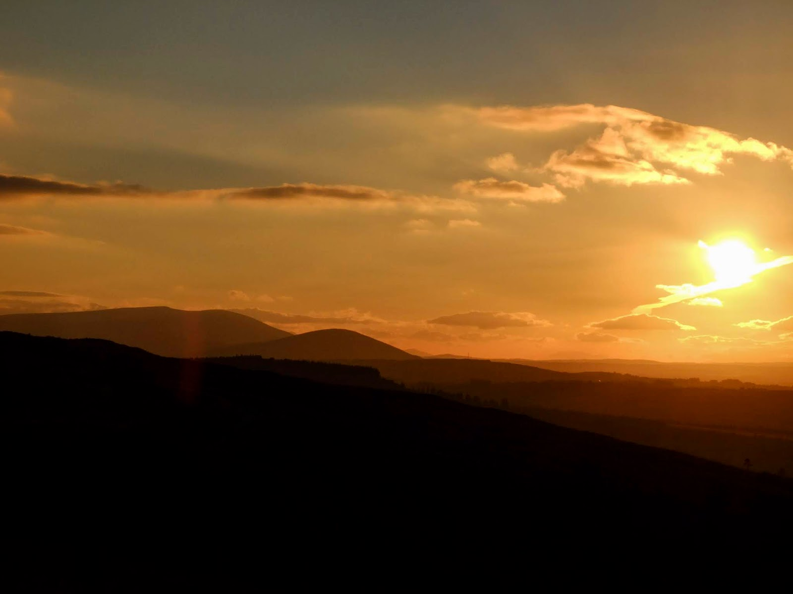 Sunset mountain views from the Boggeragh Mountains, Co.Cork.