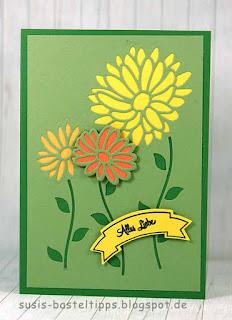 Bigshot framelits Blumenkreation: Tipp für die Stanze von Stampin' Up!