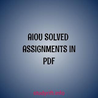 AIOU Solved Assignments BA/Bcom Autumn 2020